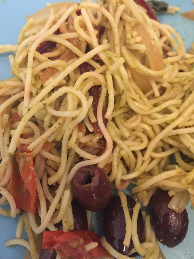 If you like olives, pasta and fun ingredients, this is for you.